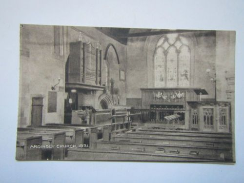 Old Postcard 'Ardingly Church',Sussex 1931
