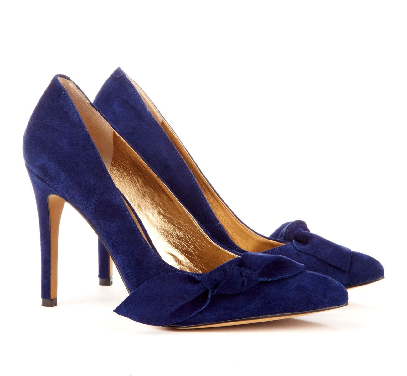 suede blue and gold