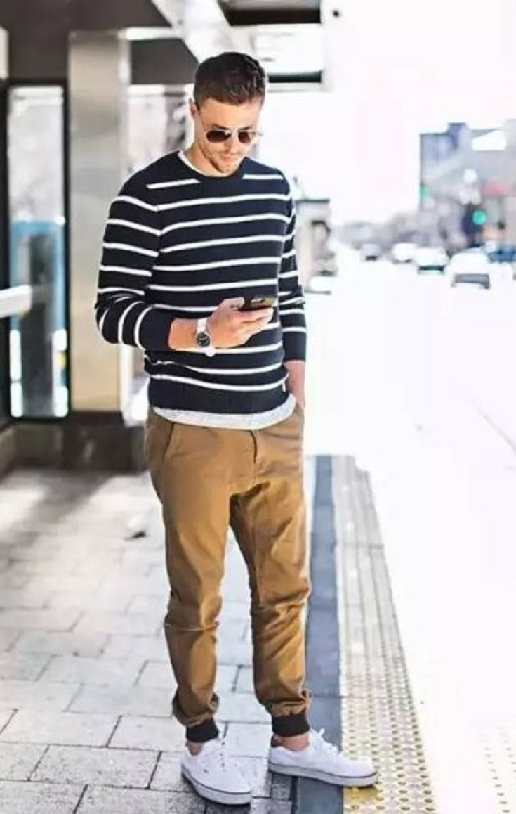 84994c2e 22 Cool Men Outfits With Jogger Pants | Joggers & Sneakers | Joggers ...