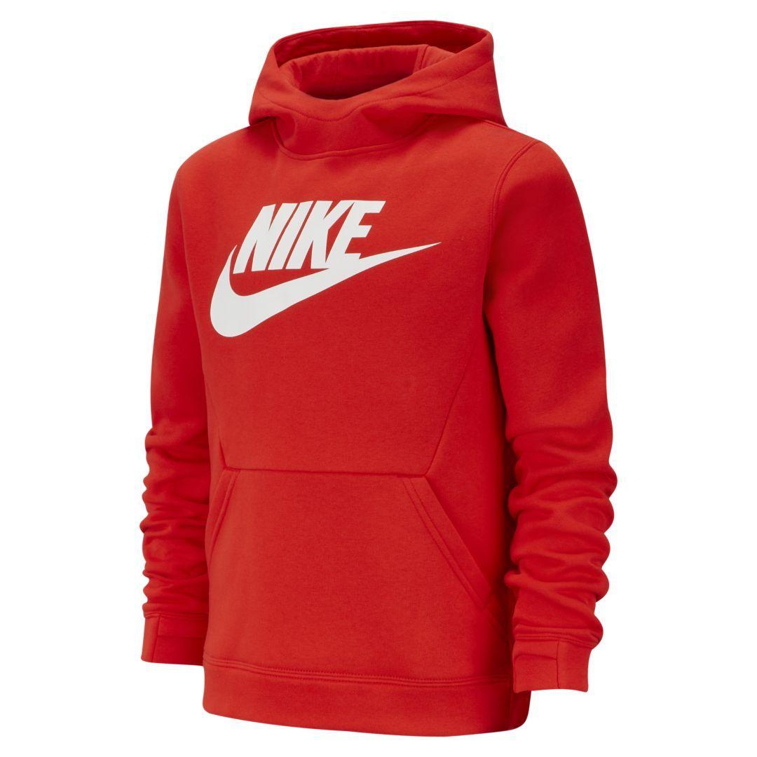 Sportswear Big Kids' Fleece Pullover Hoodie in 2020 | Red