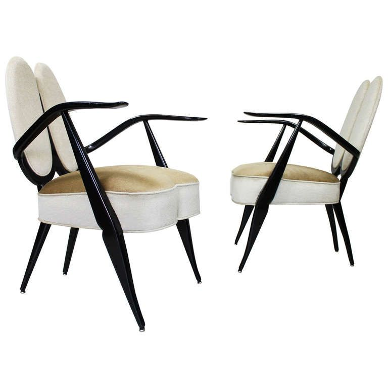 armchairs by guglielmo ulrich italy circa 1940 from a unique