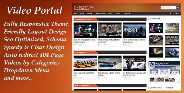 Video Portal Responsive Blogger Video Template Free Download Blogger Templates Video Template Templates