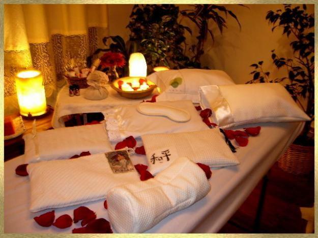 Cabina para masajes del Spa de Carly.