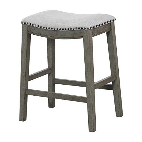 office star saddle stool with antique grey base 24 inch https