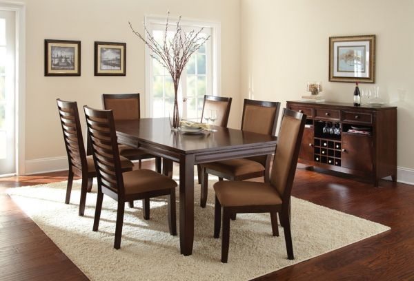 Terrel Dining Table  $349.99 Sku:139507 Dimensions:42Wx78Dx30H The sleek and sophisticated Terrel Collection by Steve Silver Furniture features a spacious dining table with an extension leaf and matching upholstered side chairs. The chic, casual style keeps things simple with clean, straight lines and tall ladder backrests for a pleasing contemporary touch. Please visit our website for warranty and benefits.