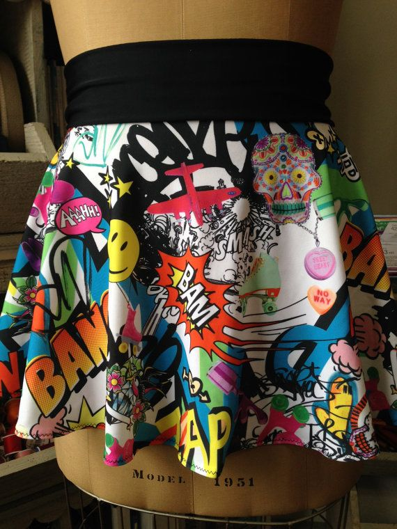 NOT A SPARKLESKIRT but I like the fabric! KA-POW! Running
