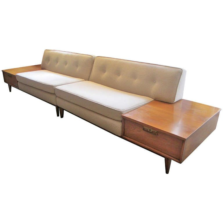 Thomasville Sectional Sofa With Built In End Tables Modern Sofa Sectional Sectional Sofa Large Sectional Sofa