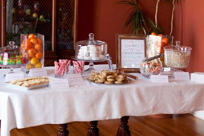 Craving Bar At A Baby Shower Let Guests Take Home What Mom To Be