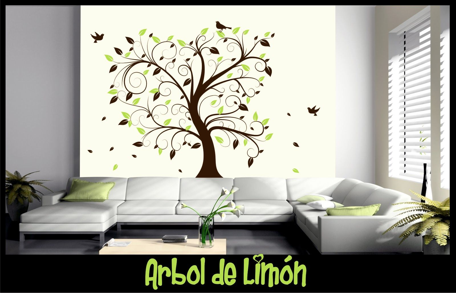 Vinilo decorativo arbol de limon home decor pinterest arbol de limon limon y vinilos - Vinilo decorativo arbol ...