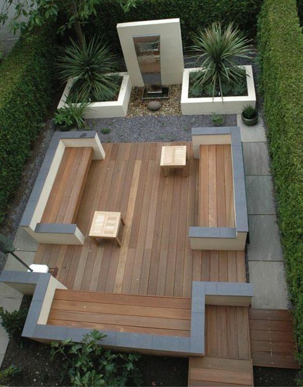 100 Bilder zur Gartengestaltung u2013 die Kunst die Natur zu - beispiel mehrstufige holzterrasse