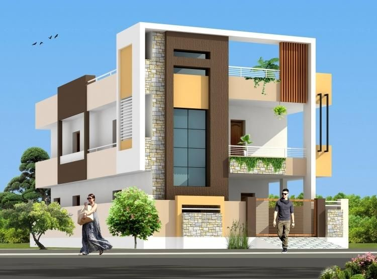 Two Floors House Building Elevation, House Elevation, House Front Design,  Modern House Design