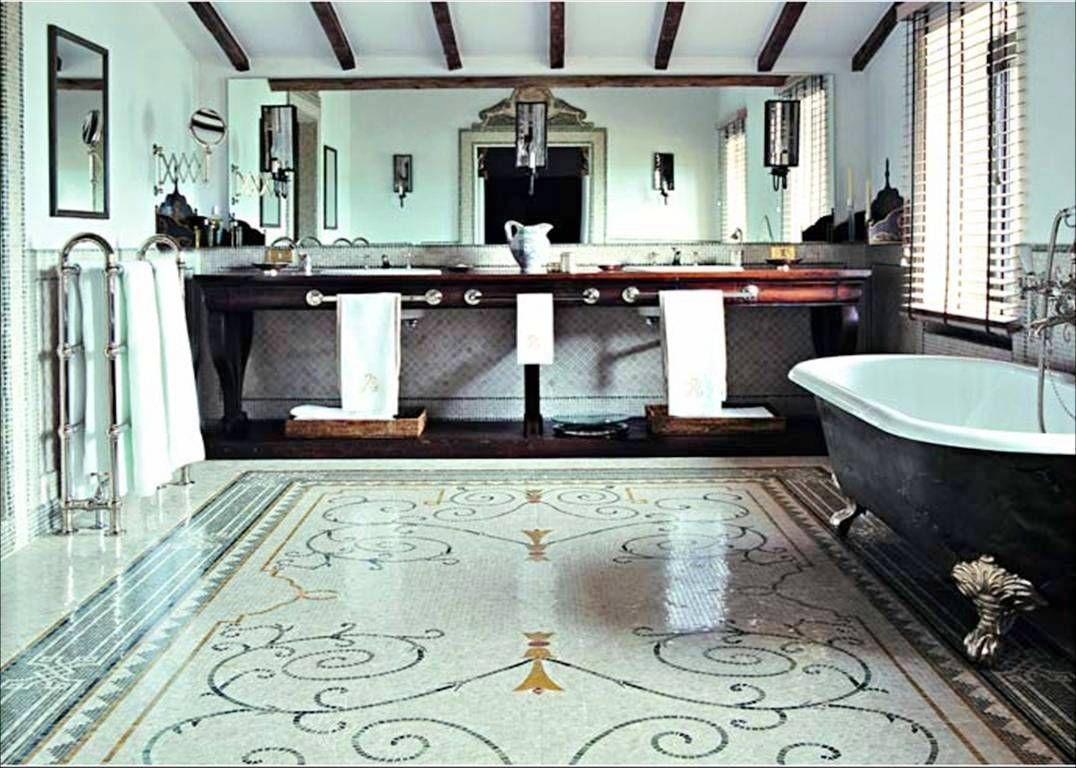 A marvelous mosaic floor in an italian bathroom italian bathroom a marvelous mosaic floor in an italian bathroom dailygadgetfo Gallery