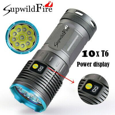 30000LM 12x LED 3 Modes Bicycle Lamp Bike Light Headlight Cycling Torch Strobe