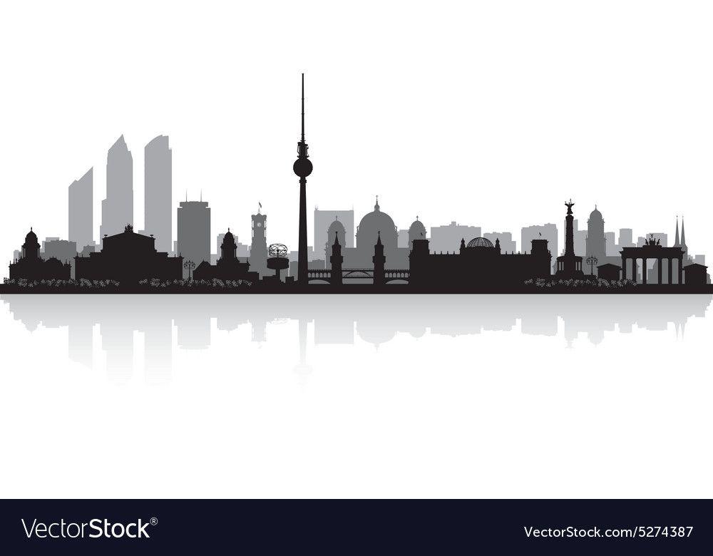 Berlin Germany City Skyline Silhouette Vector Image On Vectorstock City Skyline Silhouette Berlin Germany City Skyline