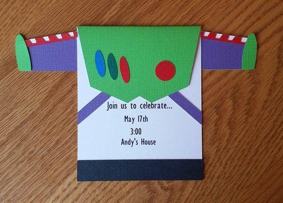 Toy Story Birthday Invitation Buzz Lightyear Birthday