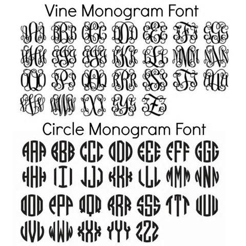 Free Circle Monogram Fonts Download Monogrammed Cricut Fonts