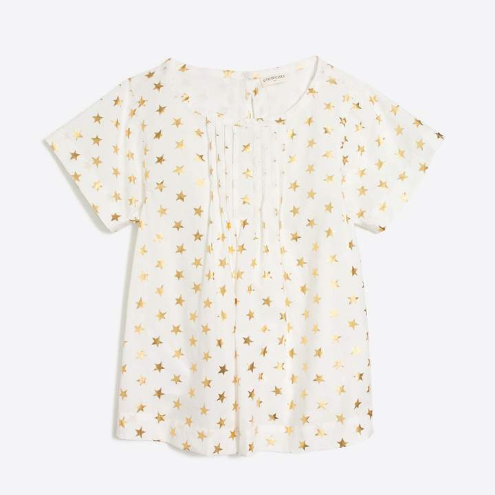 eeb0e238fd3930 Girls' short-sleeve starry top | Products | Girl outfits, Shirts ...