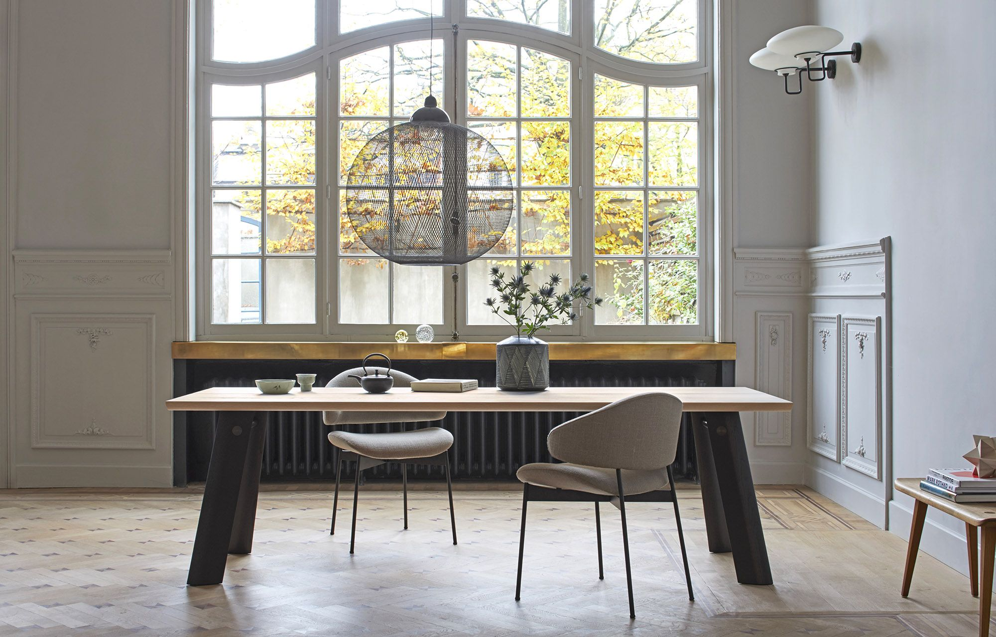 Modern Dining Room Furniture P68 Table And Luz Chair By More Table Presented In Brushed White Pigmented Ash With F Stylish Dining Room Dining Table Furniture