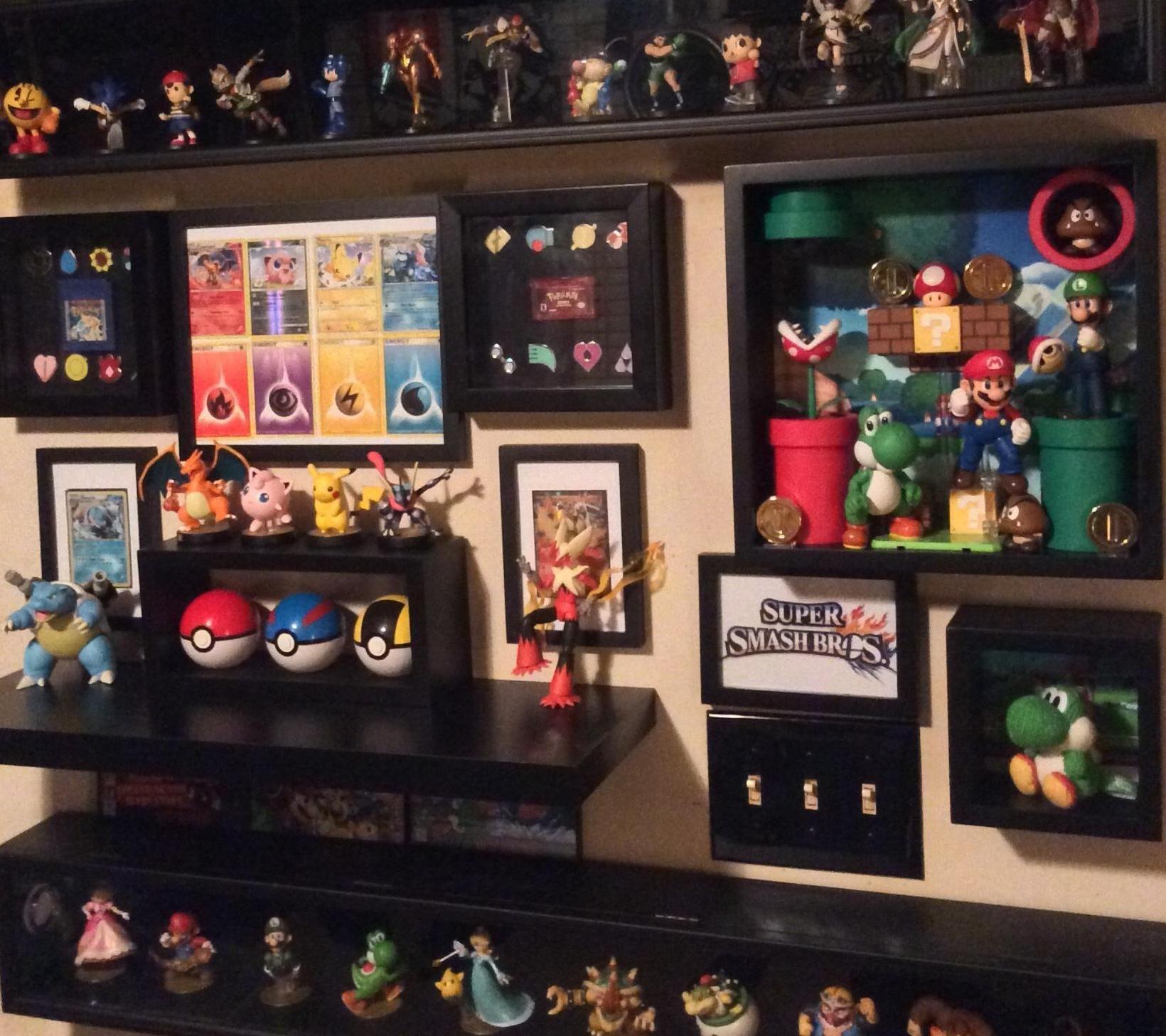 Man Caves Reddit : Nintendo amiibo smash wall via reddit user splosion