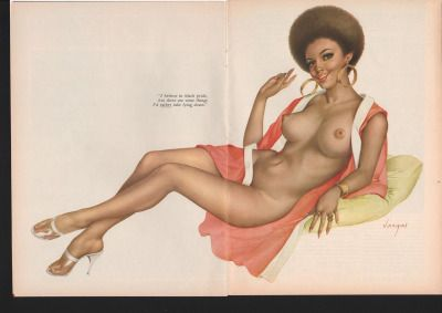 African American Pin Up from Playboy, September 1970