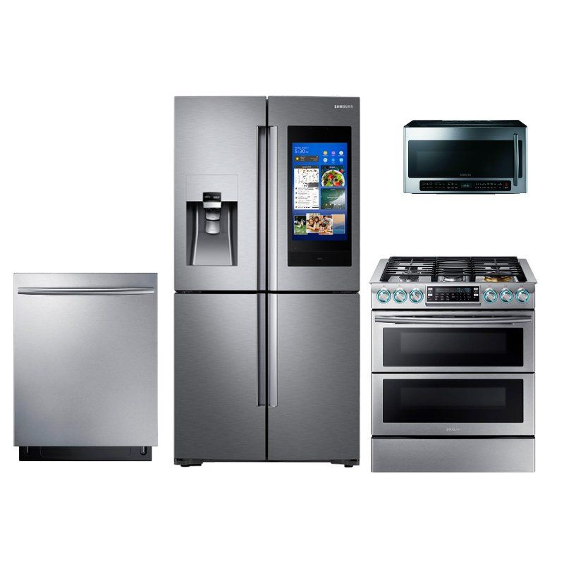 Samsung 4 Piece Samsung Kitchen Appliance Package with Gas ...