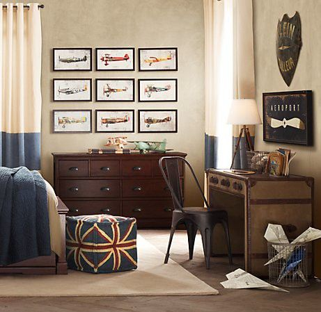 Vintage Boys Room Airplane Theme Love This For Xavier S