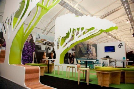 Exhibition Stands Nz : Air new zealand display and trenz lounge by peek