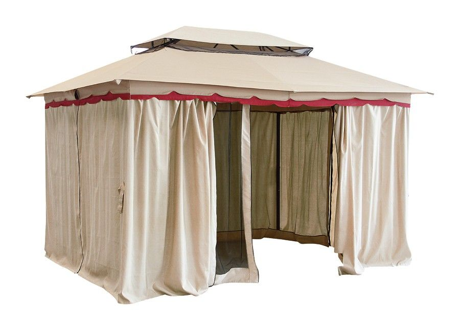 Tangri Deluxe Ornate Gazebo Double Top Steel Frame Includes