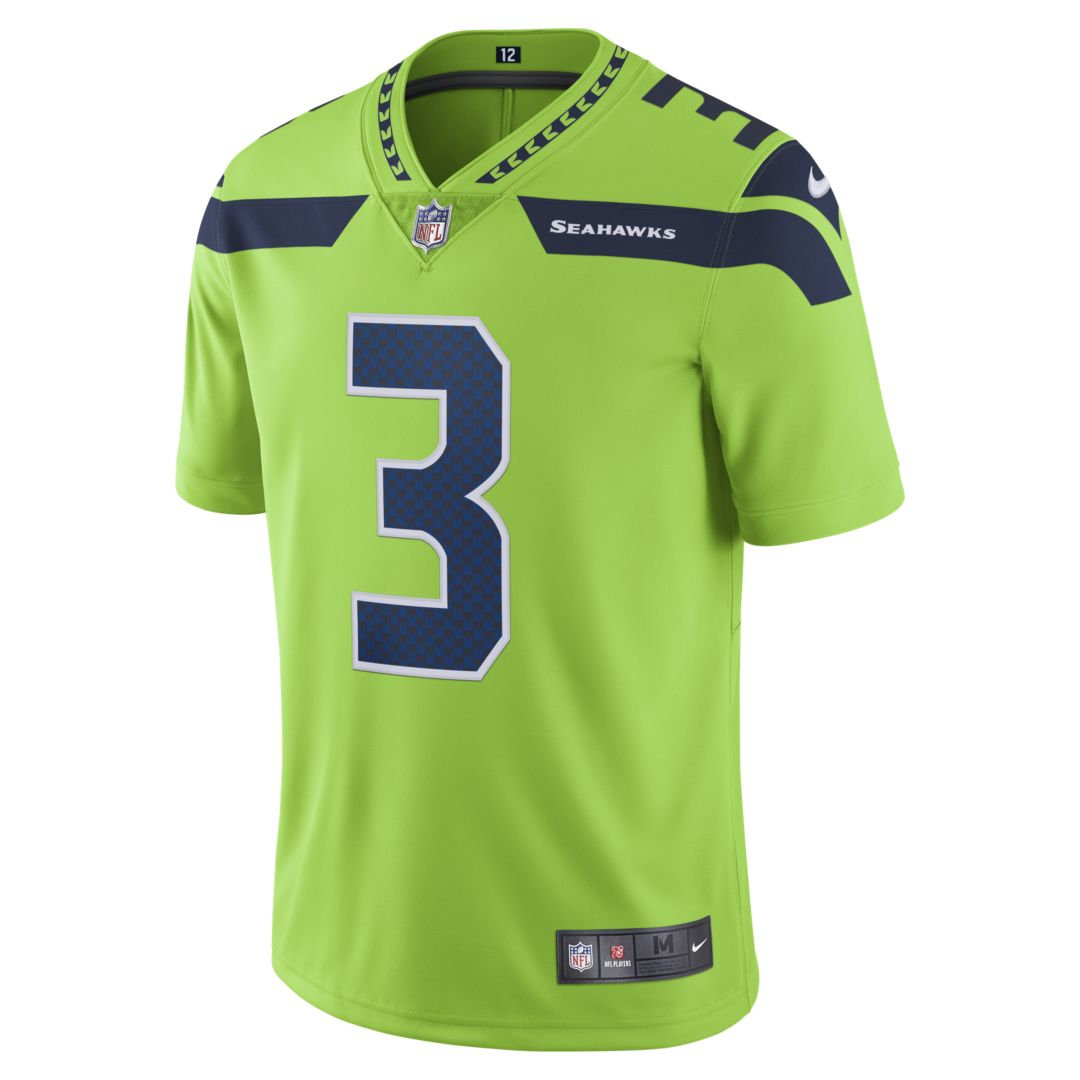c41e57484f27a NFL Seattle Seahawks Color Rush Limited (Russell Wilson) Men s Football  Jersey Size 3XL (