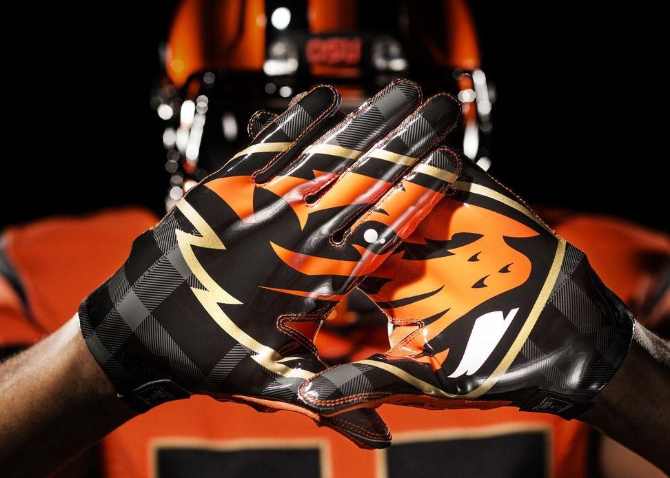 Pin By Debbie Petty On A Little Football Football Gloves Nike Football Oregon State Beavers Football