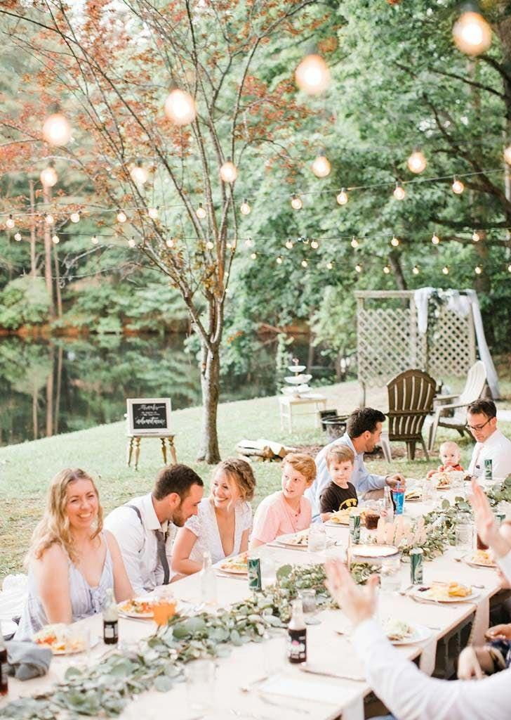 backyard micro wedding under 2000 Wedding backyard