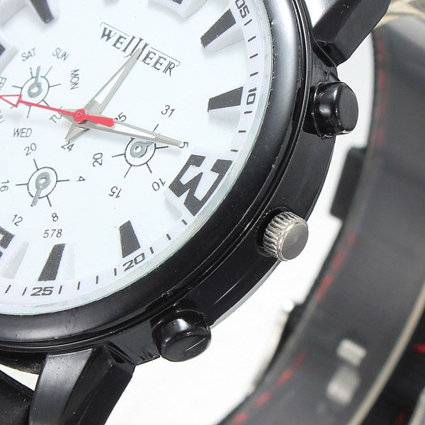 Men's Military Pilot Aviator Army Silicone Sports Quartz Wrist Watch