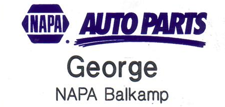 Napa Auto Parts Magnetic Name Tags Magnetic Name Tags Name