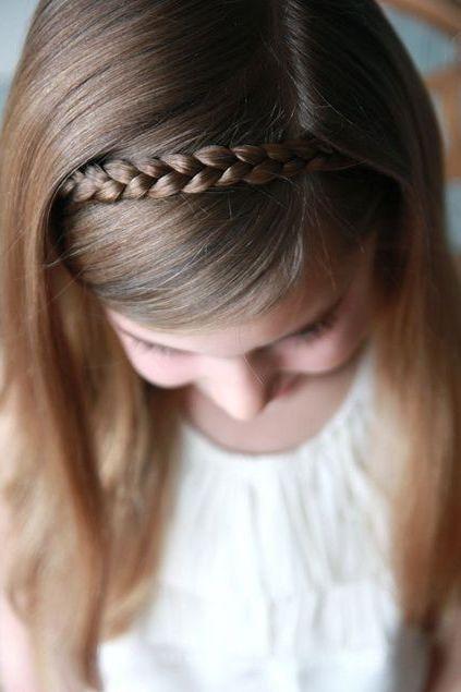 Une tresse headband Coiffure petite fille, Coiffures