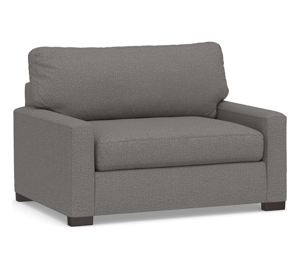Turner Square Arm Upholstered Twin Armchair Sleeper ...