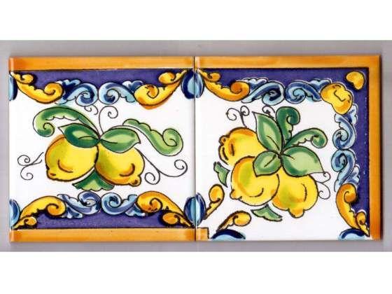 Piastrelle decorate interamente a mano dimensione da 10x10 cm ...