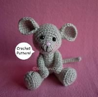 Cute free mouse pattern :- Morris the mouse - via @Craftsy