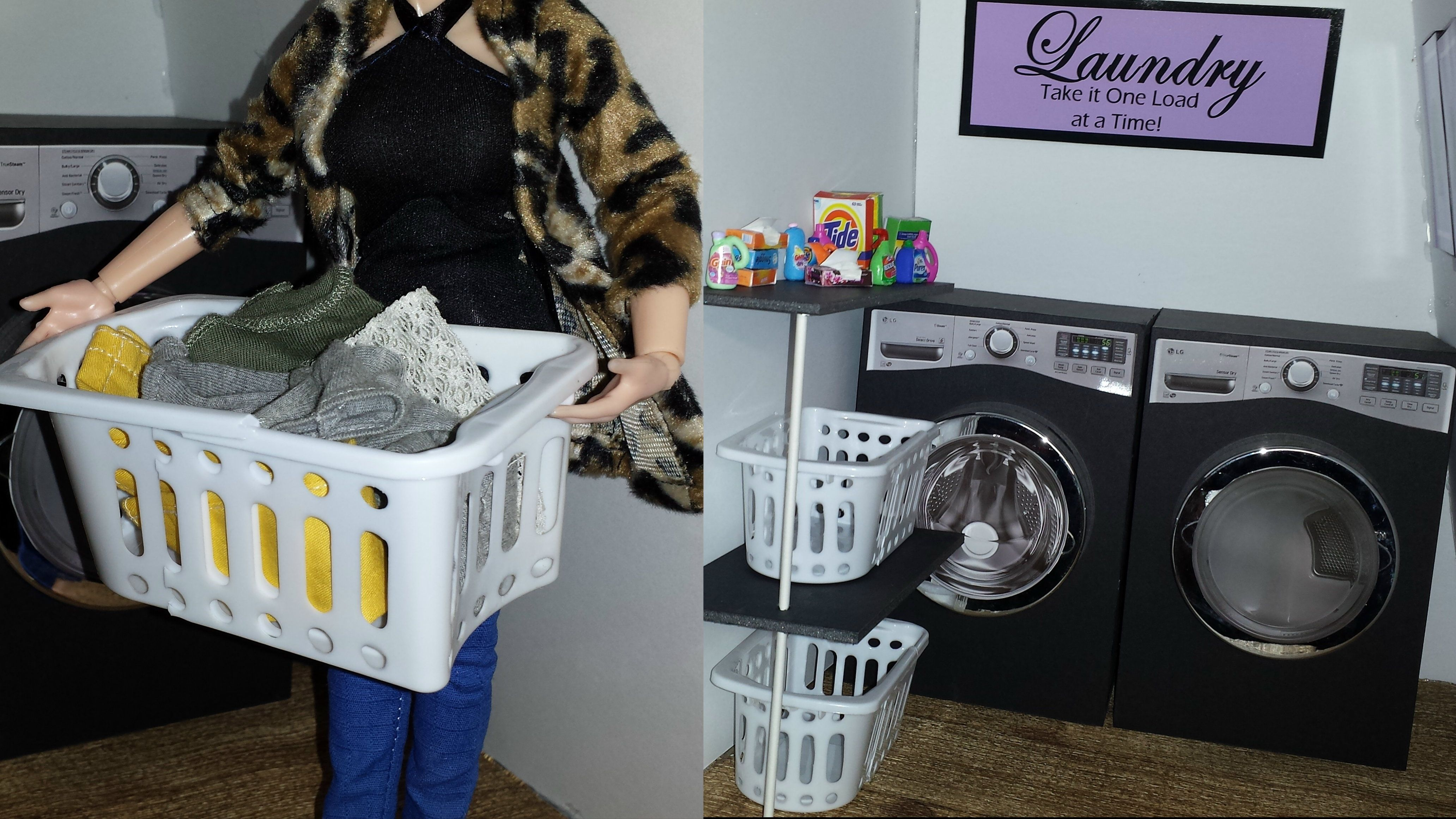 How to make a Doll Laundry Basket & Wall Decor | uCreate | Pinterest ...