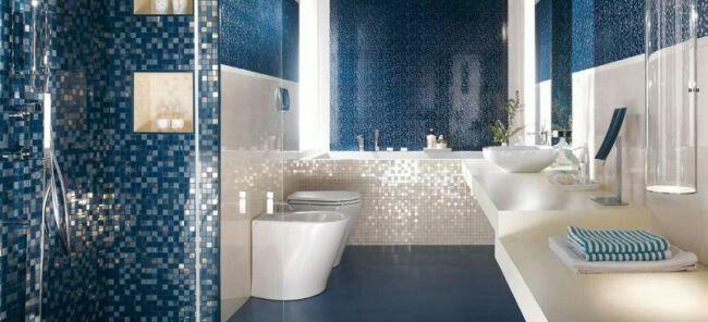 Mosaïque nacrée salle de bain Maison Pinterest