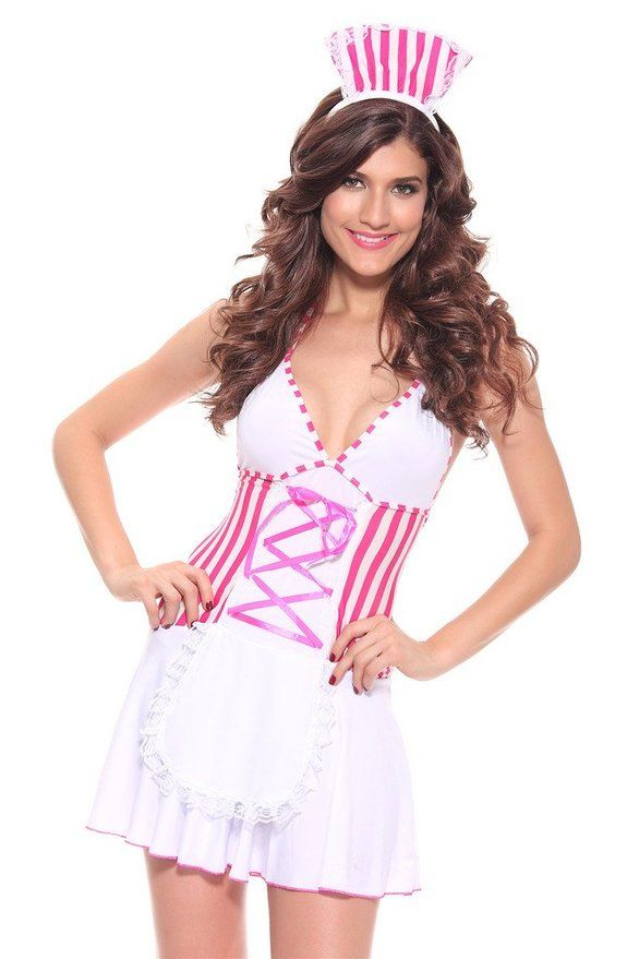 Women Naughty Nurse Outfit Costume Fancy Dress Medical