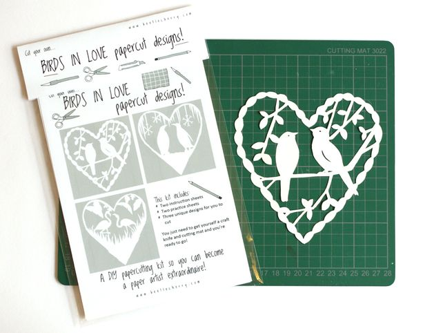 DIY Papercut Pack: Birds in Love £6.50