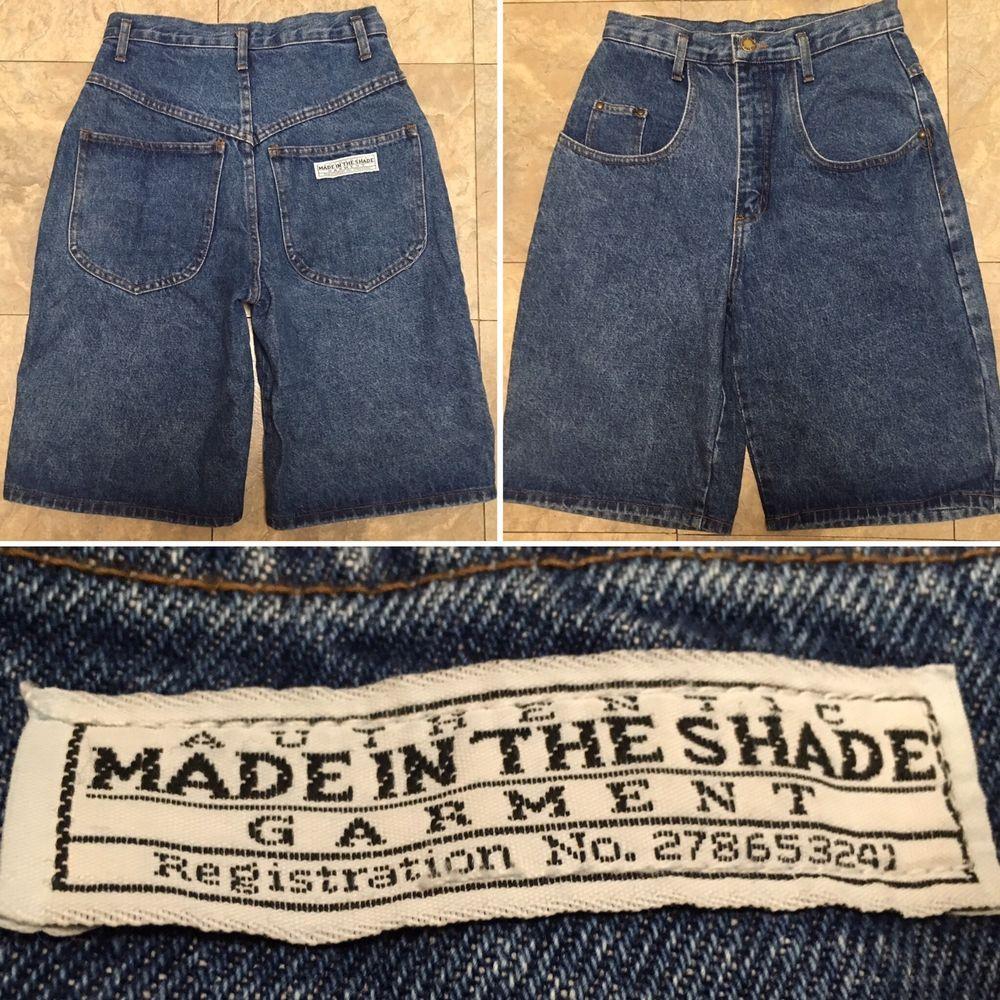 Vintage Made In The Shade High Waist Denim Shorts Made In Usa Sz 9 27 Waist Ebay High Waisted Shorts Denim Vintage Denim Denim Shorts