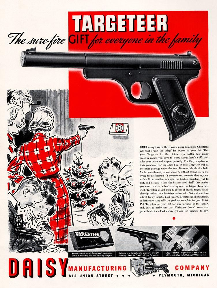 1937 Daisy BB Gun Ad | Vintage Full Page Ads | Guns, Christmas ad