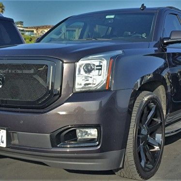 Gmc Yukon Xl 24 Kmc Km651 Slide Wheels Gloss Black Strut