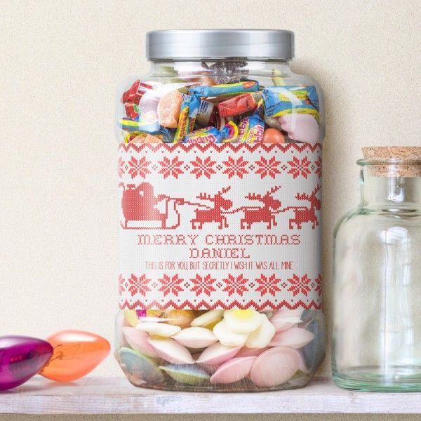 Shop Now!  http://www.blueponystyle.com/products/santas-sleigh-personalised-retro-sweet-shop-jar-1?utm_campaign=social_autopilot&utm_source=pin&utm_medium=pin   #etsymntt #EtsySocial #ESLiving #ebay #toys #EpicOnEtsy #etsyretwt #gift #xmas