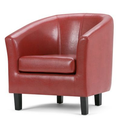 Cool Simpli Home Austin Faux Leather Tub Chair In Red Products Unemploymentrelief Wooden Chair Designs For Living Room Unemploymentrelieforg