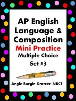 Ap English Language Multiple Choice Mini Practice Set 3 Ap English Language Too Cool For School Substitute Lesson Plan