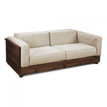 Sofá de Madeira Maciça 204cm Âmbar | Sofá de madeira, Sofa ...