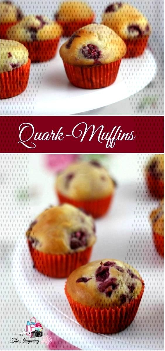 Food ABC: Qu - curd cheese muffins - Easy Recipe: Delicious muffins with cherries – Quick and ea