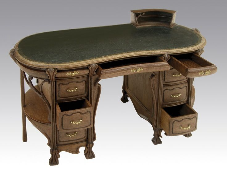 Art Nouveau Desk By Silvia Nagore (Spain).es One Day I Hope To Own The Most  Amazing Desk.